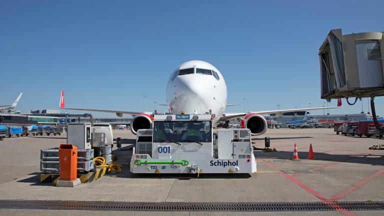 Docking van een vliegtuig